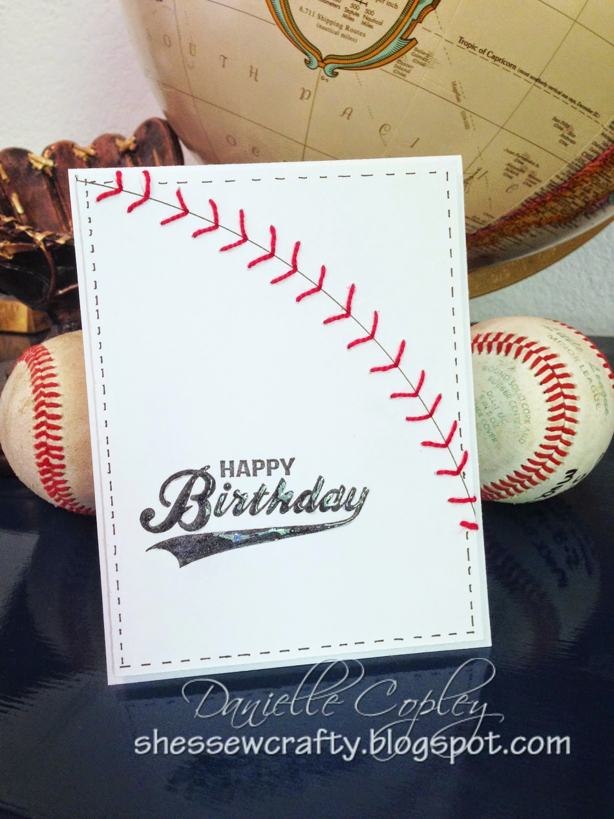 baseball birthday card for a boy for Scrapbook Maven