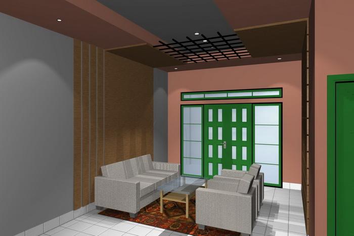 gambar 1. interior rumah minimalis ruang tamu