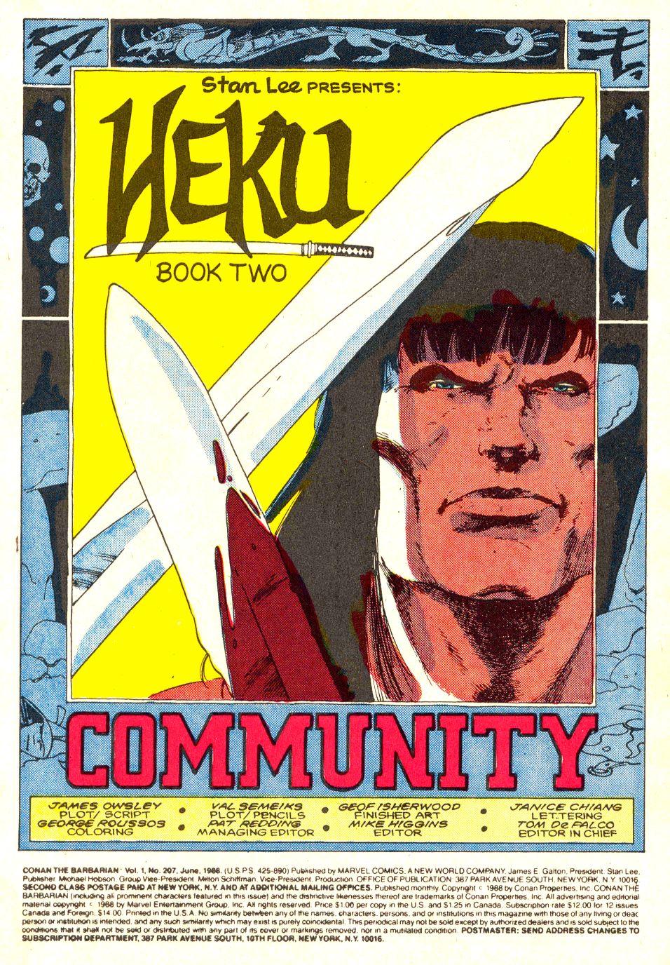 Conan the Barbarian (1970) Issue #207 #219 - English 2