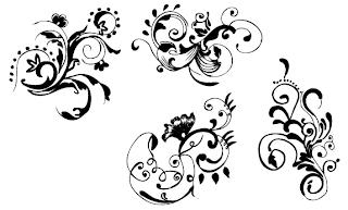 black, white, black white, floral black white, floral vector, floral clipt art, floral download free, floral full, bunga, vector bunga