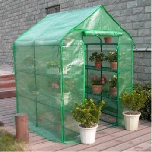 how to make a mini greenhouse with plastic wrap