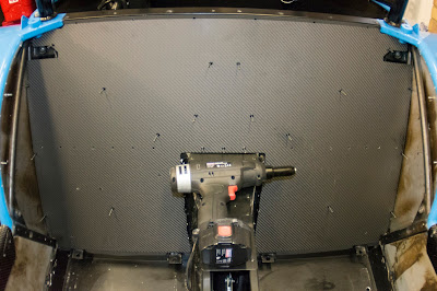 A few rivets holding the rear bulkhead in place whilst I readied my new tool
