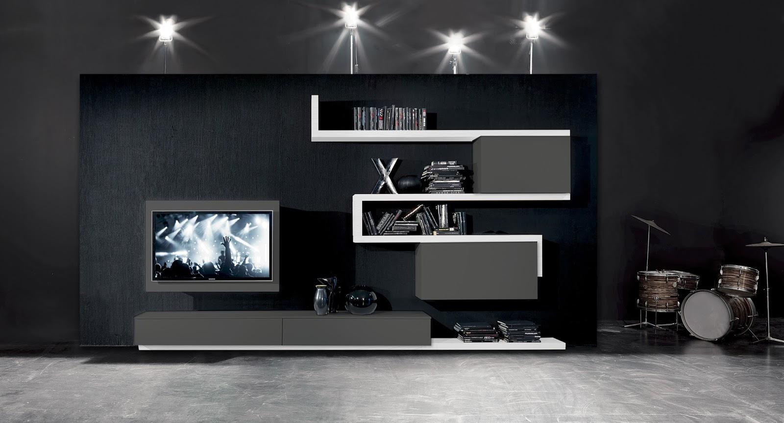Fimar mobili idee soggiorno side 7 versione dark - Mobili tv girevoli ...
