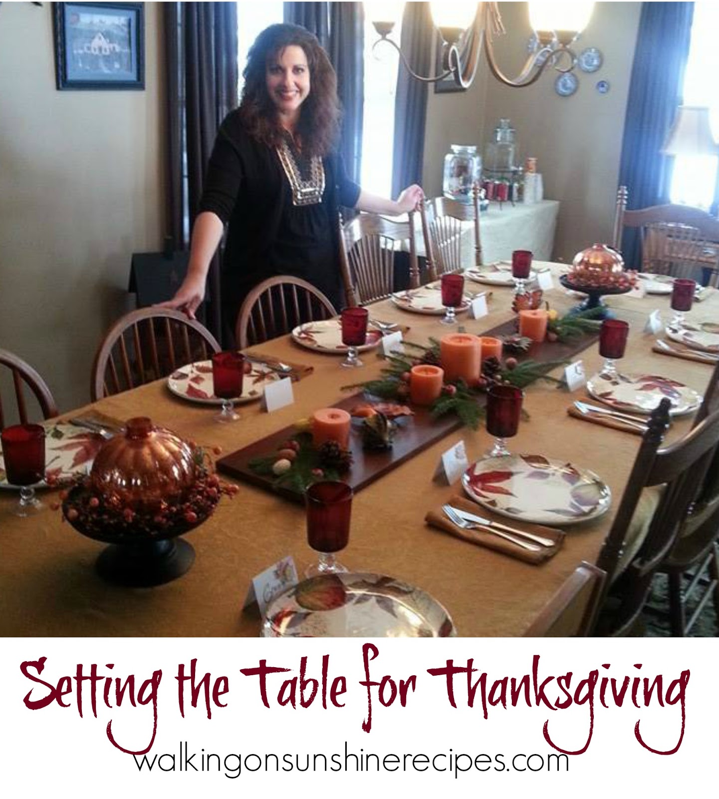 Setting the Table for Thanksgiving  Walking On Sunshine Recipes