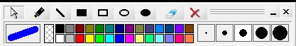 الرسام والكتابة على الشاشة