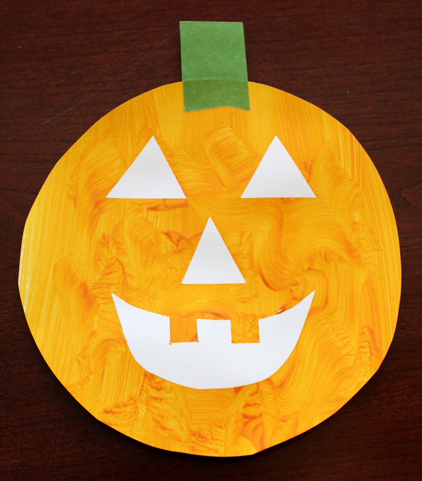 Easy Toddler Halloween Art Happiness is Homemade