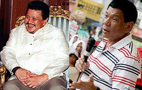 Erap to Duterte: 'He just copied it from me, he doesn't have the finesse'