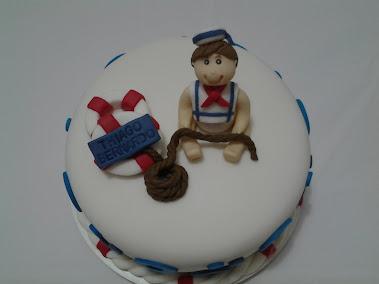 Bolo bebê marinheiro
