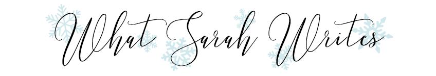 What Sarah Writes