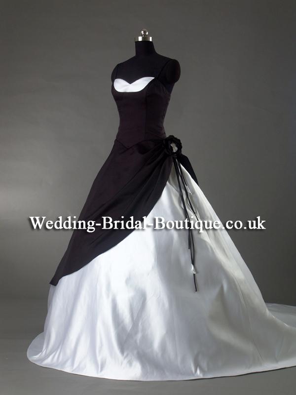 White with black lace wedding dress sex porn images for Black red and white wedding dresses