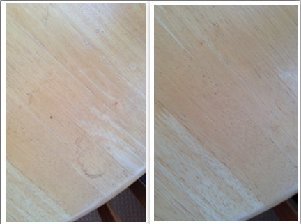 Here Are Some Pictures Of The Results I Got. The Left Hand Side Has A  Visible Stain And The Right Side Is After I Cleaned It.