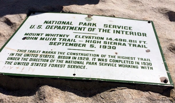 This tablet marks the construction of the highest trail in the United States. Begun in 1928, it was completed in 1930 under the direction of the National Park Service working with the U.S. Forest Service.