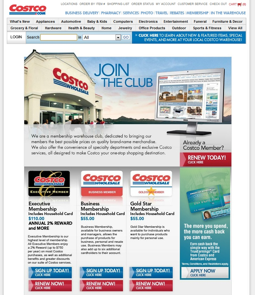 Green Espirit Costco Executive Membership & American