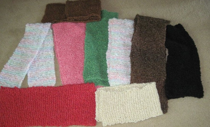 Knitting Scarves For The Homeless : Bridge and beyond yummy soft knitted scarves donated for