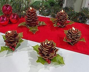 Centros de mesa de navidad con pi as parte 3 - Centros de mesa con pinas ...