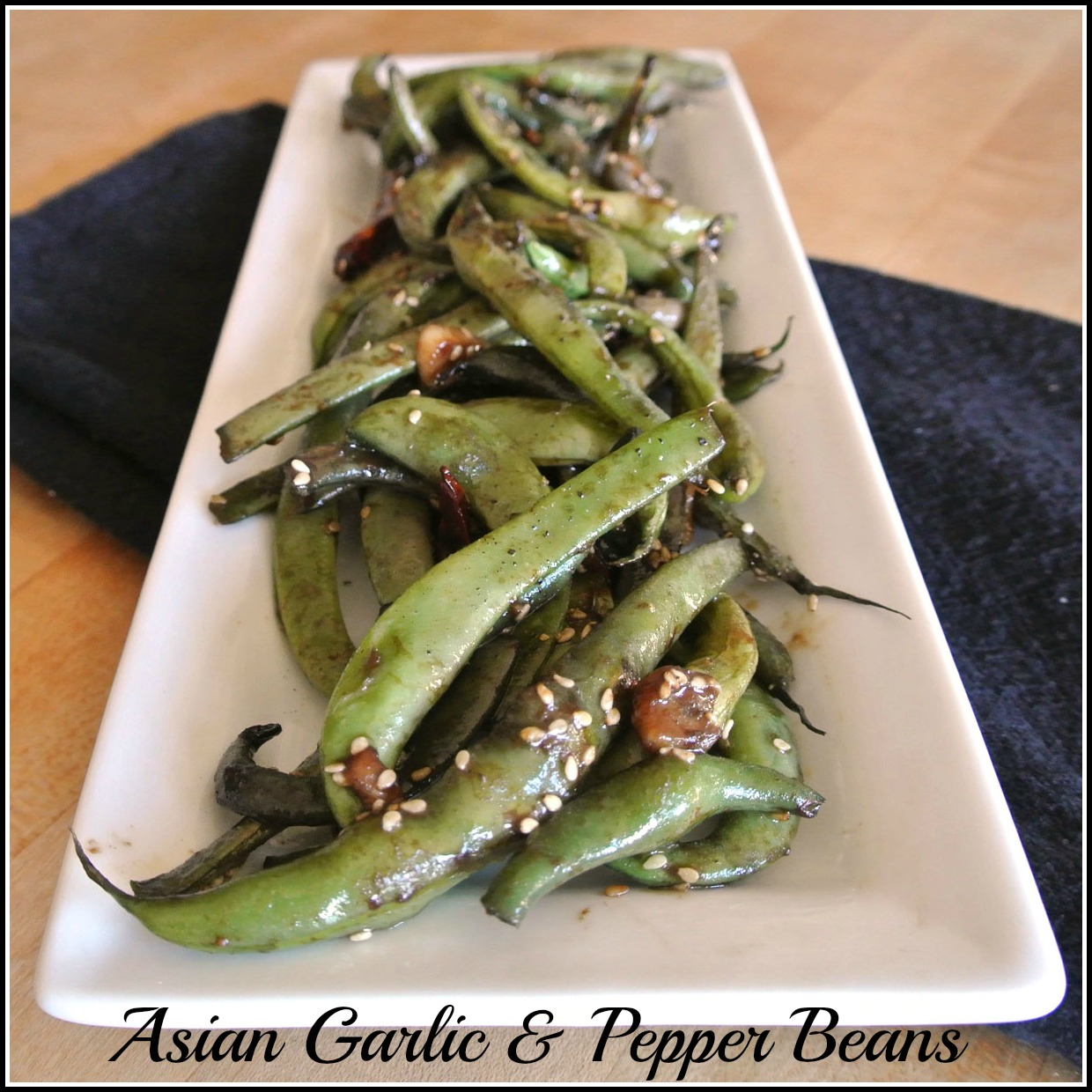 Mom, What's For Dinner?: Asian Garlic Pepper Green Beans