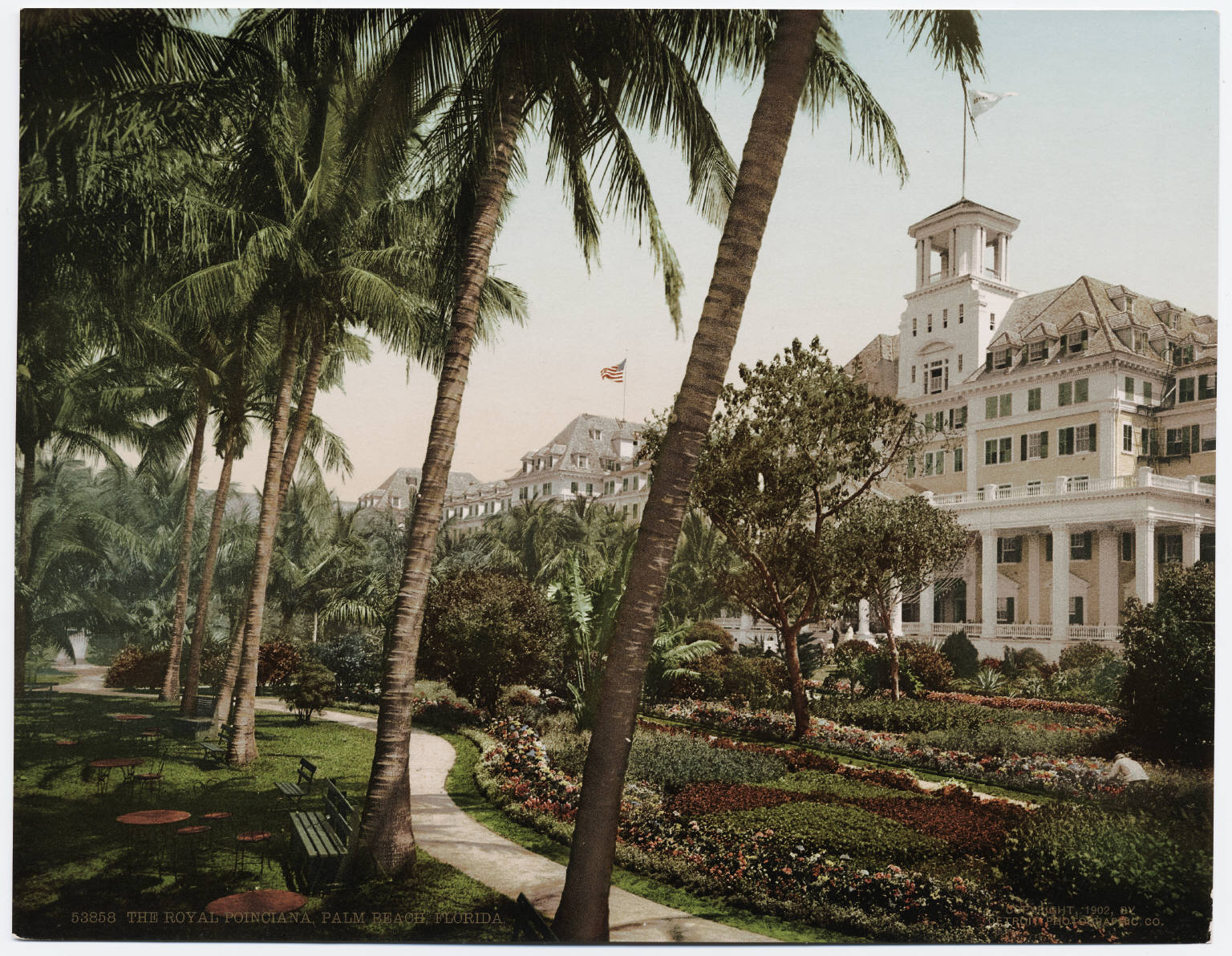 The Hrp Hotel Royal Poinciana Circa 1900 Main Entrance To Was Here On West Side Facing Lake This Picture Taken From South