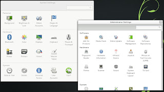 openSUSE 12.3 RC1 GNOME 3.6 System Settings YaST