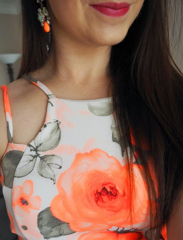 Wearall coral summer dress