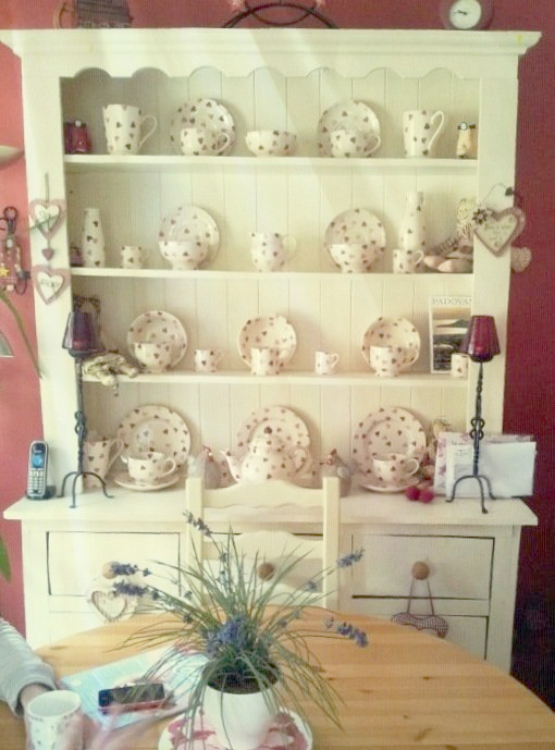 Shabby+Chic+Dresser+Filled+with+Emma+Bridgewater+Crockery Shabby Chic Emma Bridgewater Filled Dresser Shelves