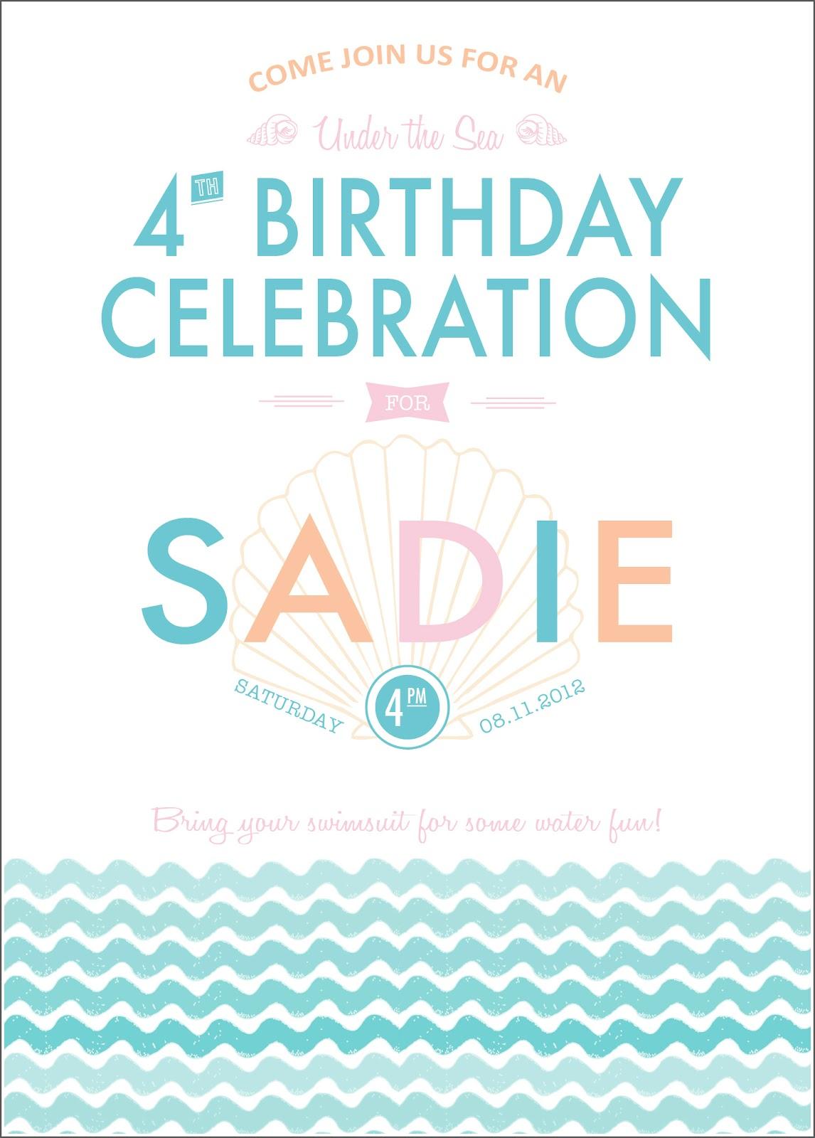 Sadie\'s Under the Sea party!