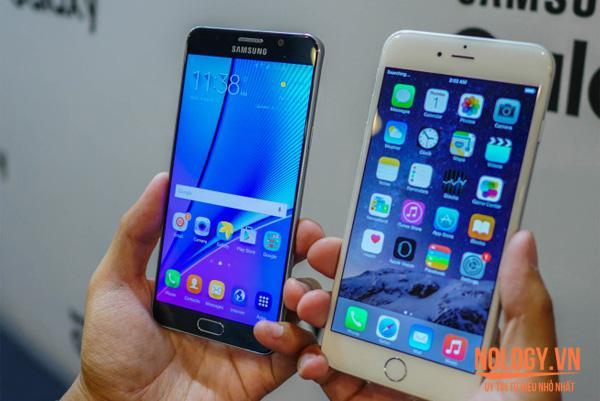 Galaxy Note 5 mạnh mẽ hơn Iphone 6S Plus