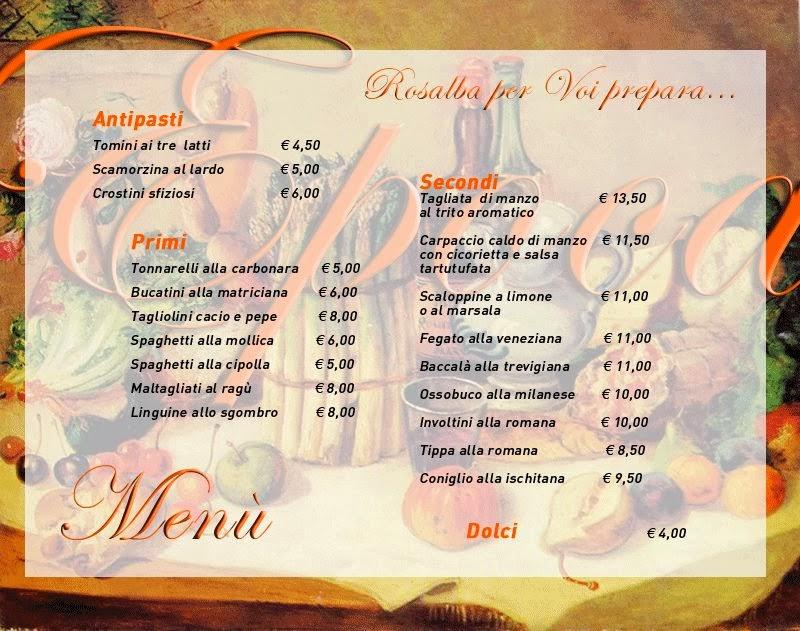 come creare menu ristorante