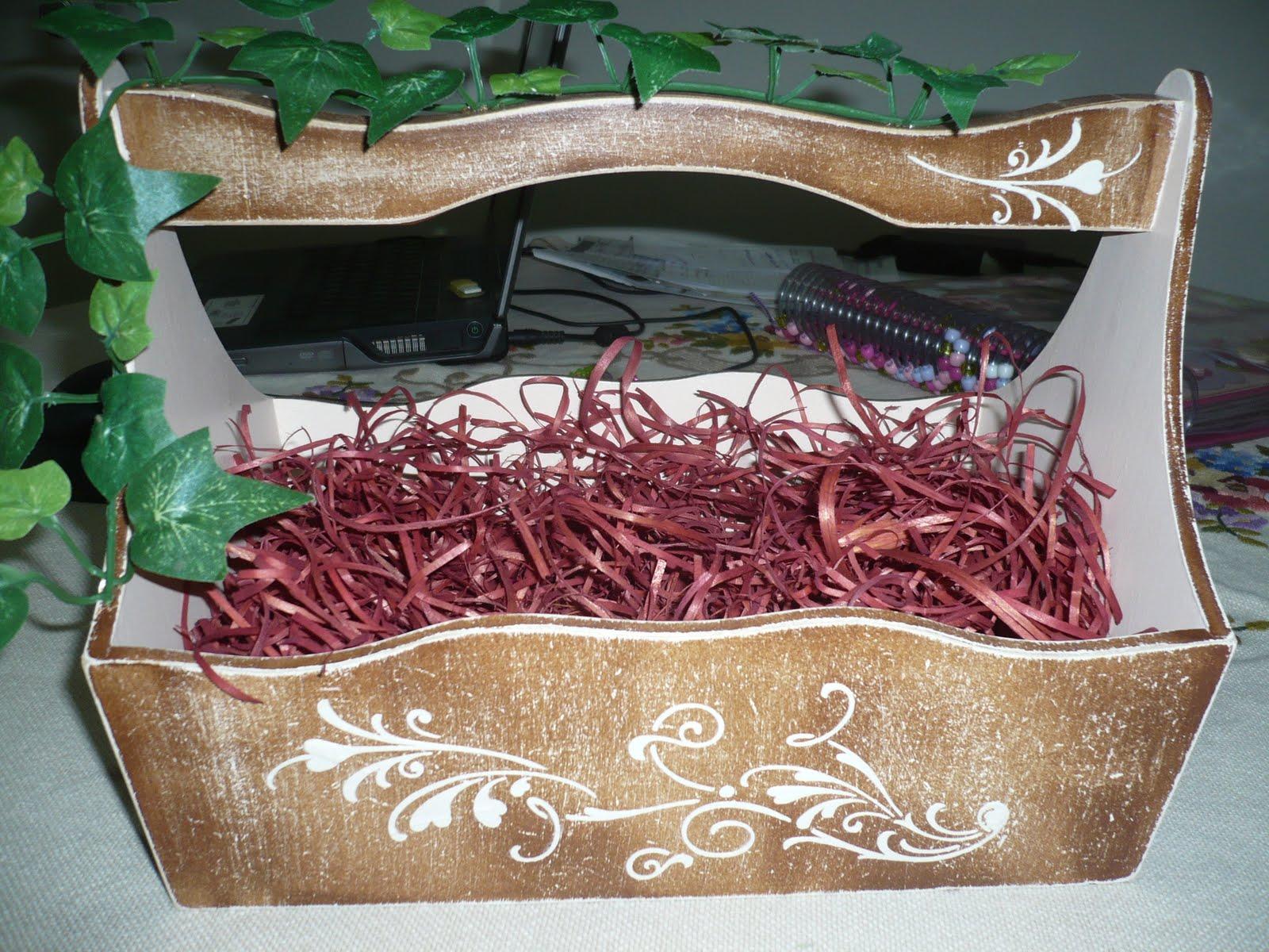 Cesta nas dimensões 35x20x8 Valor R$ 25,00 (somente cesta decorada)