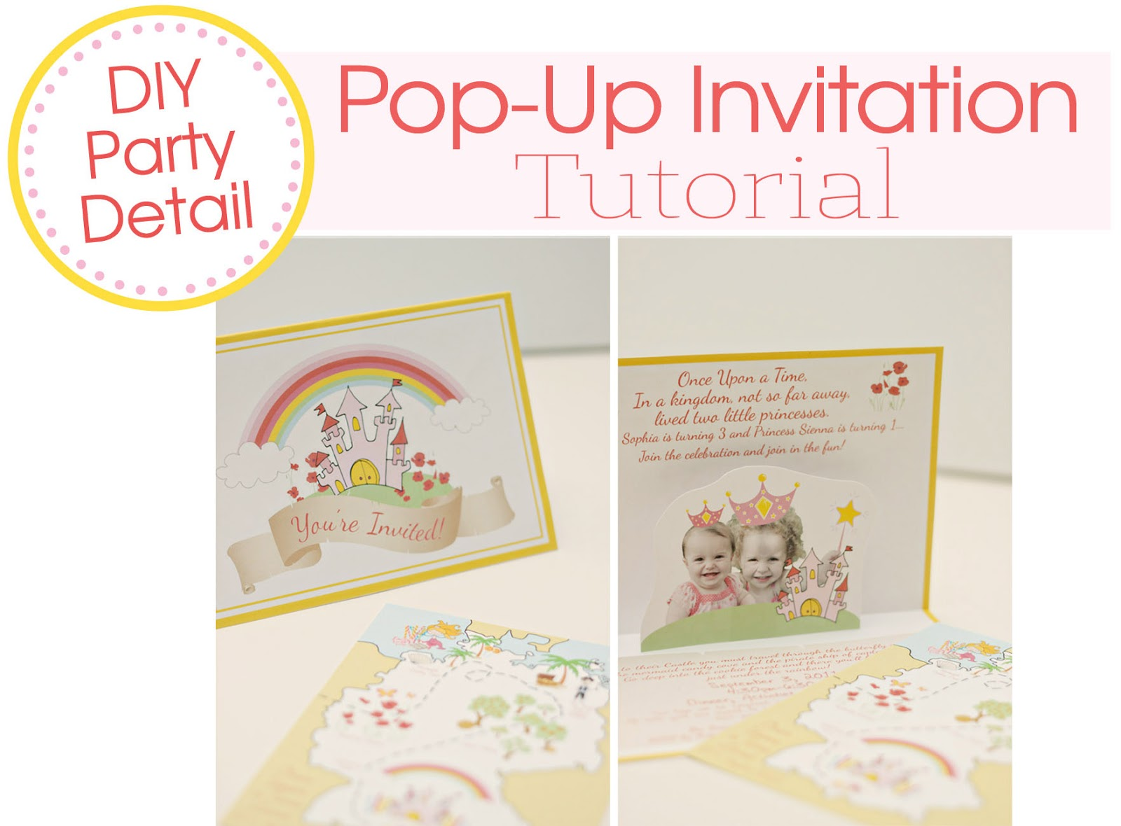 DIY Pop-Up Invite for The Girls\' Storybook Princess Party - At Home ...