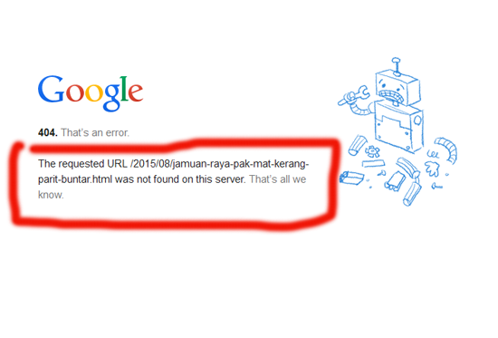 Masalah Error 404 Pada Blogspot