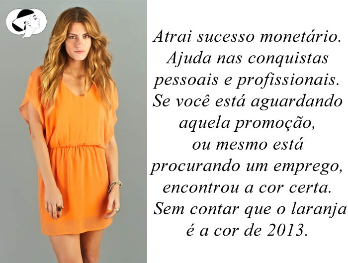 CORES PARA O ANO NOVO_Vestido laranja_usar laranja para o ano novo_a cor de 2013