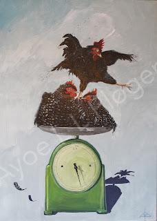 art,maleri,høns,farver,vægt,fustration,job,perlehøns,moderne,colours,