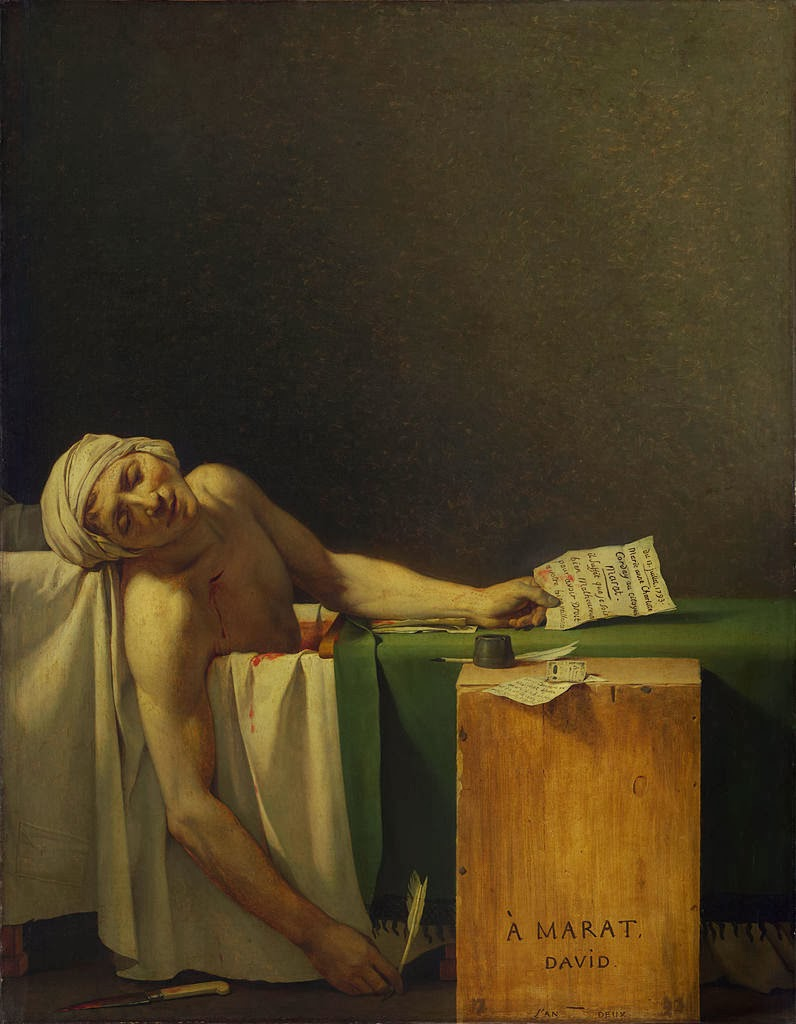 the death of marat by david