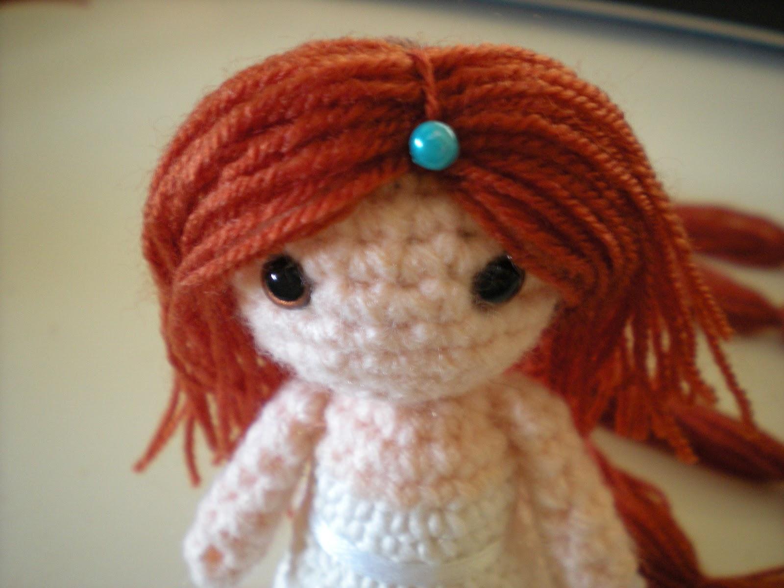 Amigurumi Hair Tutorial : Geekurumi: tutorial: how to make and attach hair to your amigurumi dolls