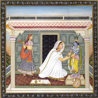 Beautiful Indian Meera Bai Painting