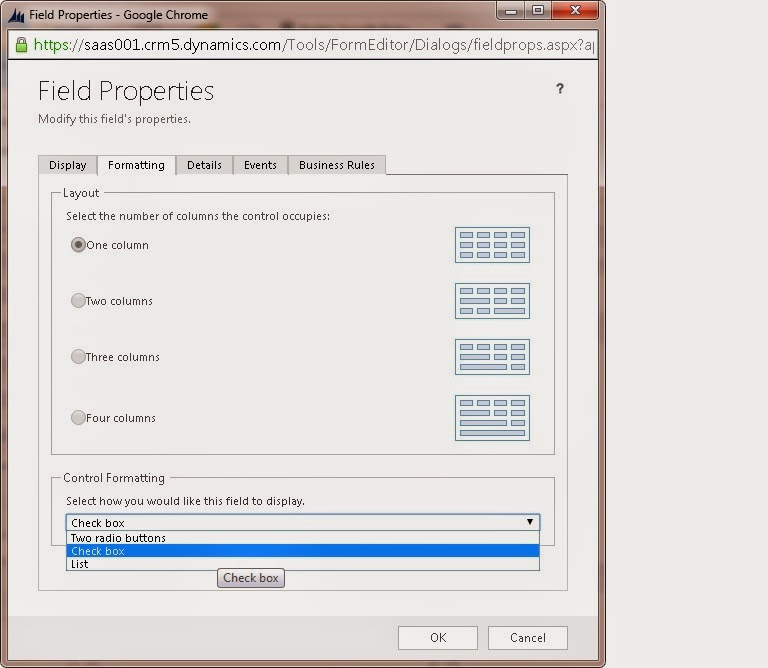 Ms Crm Tutorials Create Check Box In Ms Crm 2013