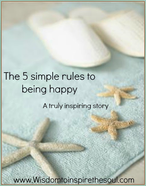 The 5 simple rules to being happy.