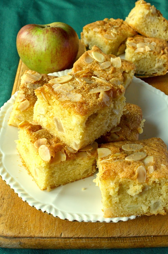 Apple and almond traybake cake (aka cake bars or slices)