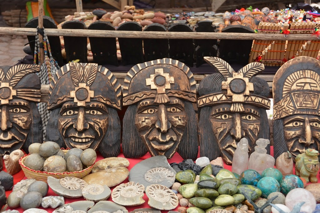 Pisac Market masks