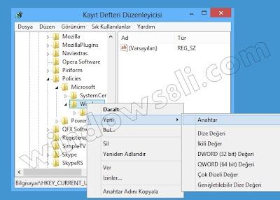 Windows 8 Başlat Ekranından Uygulama Kaldırmayı Engelleme