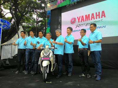 Launching Yamaha New Fino 125 Blue Core di Cikapundung Riverspot Bandung