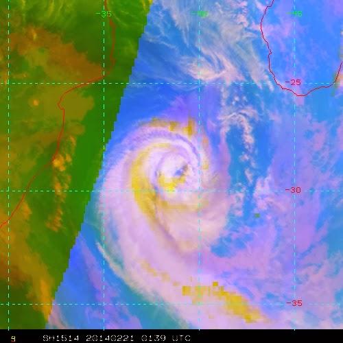 Image satellite de la forte tempête tropicale Guito
