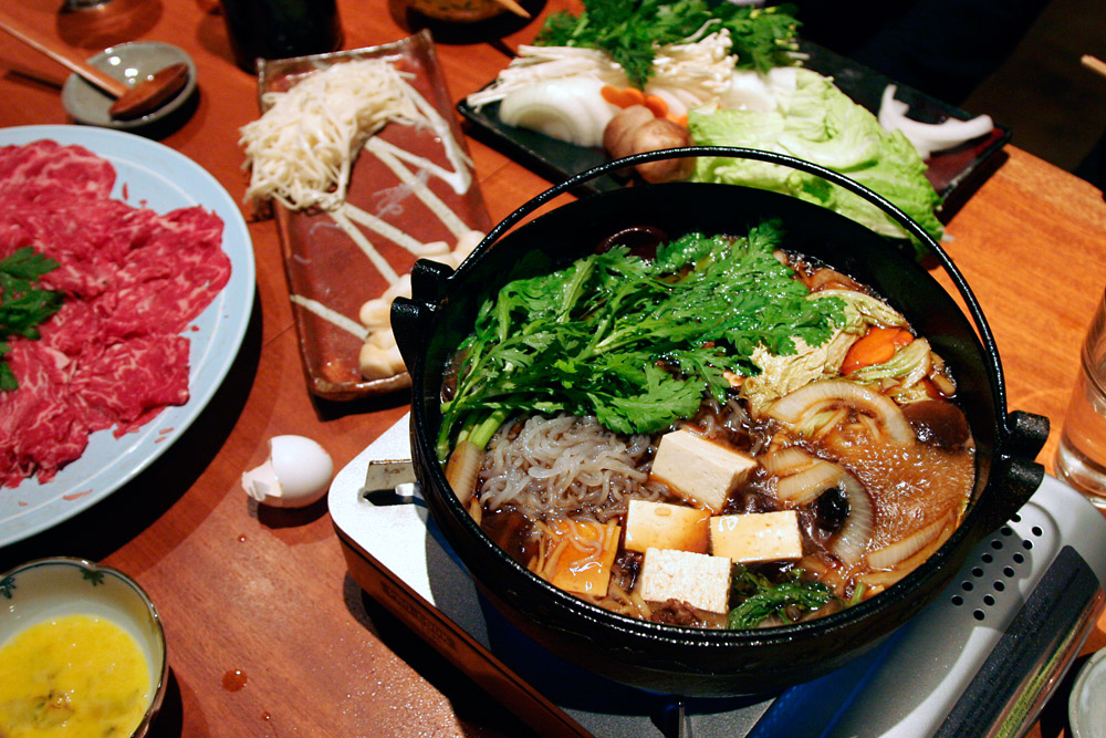 Sukiyaki recipe dishmaps for Authentic japanese cuisine