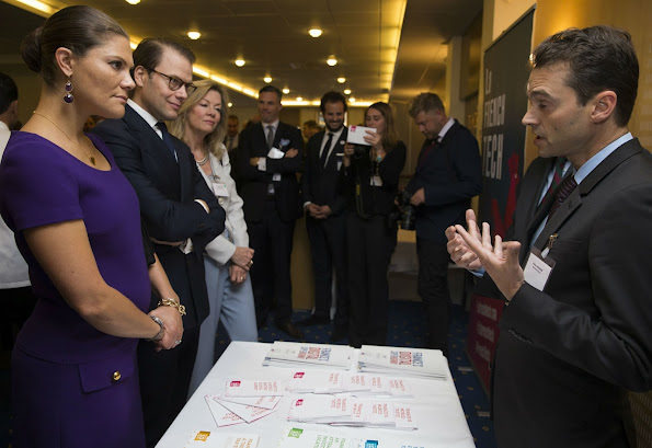 Princess Victoria and Prince Daniel at French-Swedish Business Forum