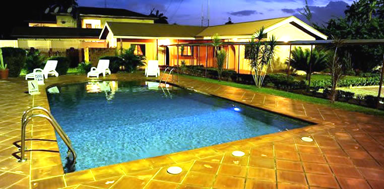 the GuestHouse swimming pool