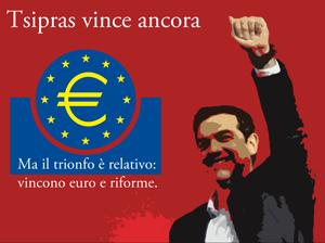Tsipras vince in Grecia ma vince l'euro