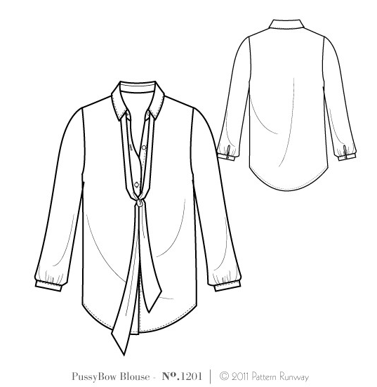 how to draw a blouse pattern