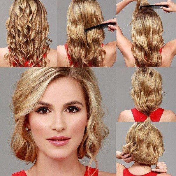Фото уроки причесок для средних волос