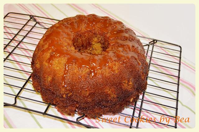 Bundt Cake de calabaza y especuloos con caramelo salada
