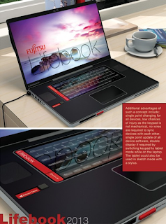 Concept Fujitsu Lifebook comes with removable smartphone, tablet, and digital camera !!!